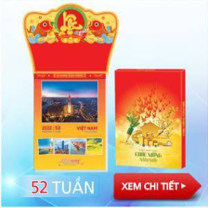 Mẫu lịch 52 tuần 2022 Việt Nam thịnh vượng